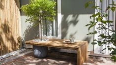 Baumbank im Kleinformat - Schattenspender inklusive