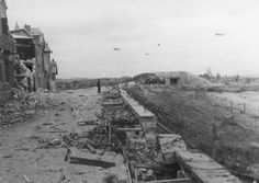 View of the beach area at Courseulles-sur-Mer, june 11,  1944