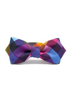 Love this Blue & Purple Rainbow Plaid Bow Tie by marthu on Pixel Print, Stylish Mens Outfits, Classic Man, Creations, Plaid, Bows, Mens Fashion, Purple, My Style