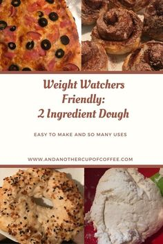 2 Ingredient Dough Easy and weight watchers friendly 2 smart points per serving. 2 ingredient bagels, cinnamon rolls, pizza dough and more! Weight Watchers Pizza, Weight Watchers Smart Points, Weight Watcher Dinners, Weight Watchers Free, Weight Watchers Desserts, Skinny Recipes, Ww Recipes, Cooking Recipes, Skinny Meals