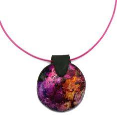 collier pendentif galaxie pâte polymère