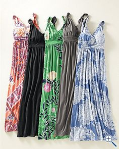 Last summer I did tunics and leggings maybe this one I'll do maxi dresses? Throw it on with a cardi and you're good to go. I'm all about easy.