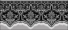 Ottoman Border No 14 stencils, stensils and stencles