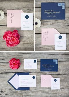 love this stationery via StyleUnveiled.com / Sogno del Fiore Wedding Inspiration / Anna J Photography / Red White and Blue Wedding Ideas