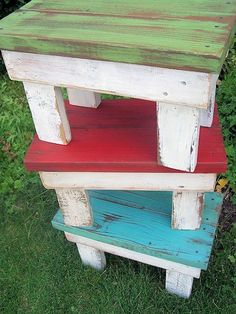 2 x 4 Stools {as seen on Pinterest} | About Family Crafts
