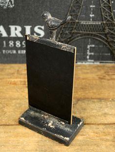 Metal Bird Chalkboard 10.5in