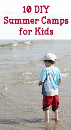Fun summer camps that you can do at home. Easy and budget friendly summer activities.