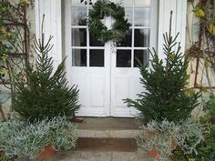 From the pinners French country home blog. Love this look...works till spring