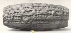 This artifact is a cuneiform cylinder that was made between 604 and 562 BCE. It is a mesopotamian inscription of Nebuchadnezzar II describing the rebuilding of the temple of the goddess Ninmah/Belet-ili at Babylon. It is of Babylonian descent and it is made of clay and inscribed as I mentioned earlier. In Babylonian society, inscribed clay was commonly used as a form of written communication and in this case, it was inscribed on a cylinder so that it could be rolled to be used as a stamp.