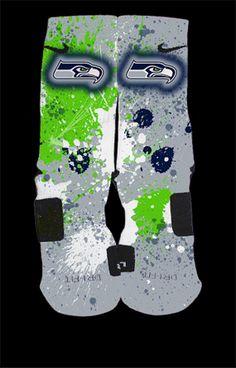 Seahawks Custom Nike Elite Socks by ChampionshipElites on Etsy, $35.99