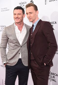 Pin for Later: These Celebs Love Tom Hiddleston as Much as You Do! Luke Evans