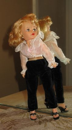 "Retro Style Metallic Gold Vinyl High Heels Fit 20/"" Dolls Cissy Revlon Amer Model"