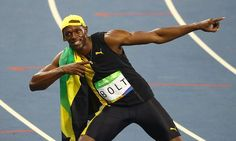 ••Olympic champ: ••Usain BOLT•• bolts again! 3rd Olympic Gold for 100m! 2016-08-14 he trails but beats Silver medalist American Gatlin (9.89) + Canada's Andre De Grasse (9.91) bronze • Bolt's record: 1st man to ever win 3 straight Olympic 100m titles • The Guardian report • at his age/stage, it's no longer @ time but title: 9.81sec vs 9.63 London 2012• last rec: U.S. Carl Lewis: 2 straight Golds (LA/Seoul) • Bolt won despite June hamstring tear! Controversial German Dr Wohlfahrt cured him…