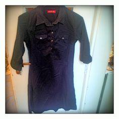 Šaty Replay černé šaty limecek,vyuzit lze i jako halenu,vel M,cena 100Kč