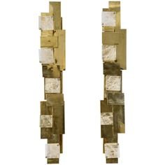 Modernist Pair of Sconces | From a unique collection of antique and modern wall lights and sconces at https://www.1stdibs.com/furniture/lighting/sconces-wall-lights/