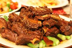 Chinese slow cooked ribs