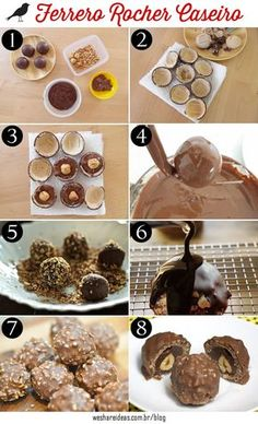 Que tal aprender a preparar uma versão caseira desse bombom delicioso de avelã?