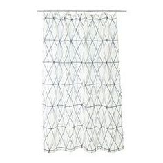 IKEA - FÖLJAREN, Shower curtain, , Densely-woven polyester fabric with water-repellent coating.