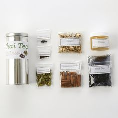 This would make a great gift! DIY Chai Tea Making Kit (Caffeinated)