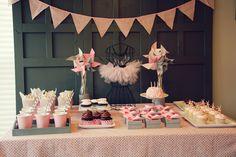 Idea for a ballet dessert table :-)