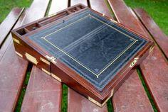 Grand écritoire de voyage d'Officier en Acajou 1850
