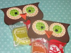 Clean & Scentsible: Owl Treat Bags
