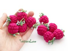 Hey, I found this really awesome Etsy listing at https://www.etsy.com/il-en/listing/198959201/raspberry-crochet-1-pc-berries-crocheted