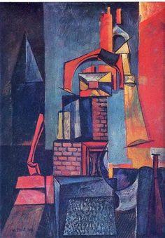 Max Ernst, Türme, 1916, Scottish National Gallery of Modern Art, Edinburgh, UK