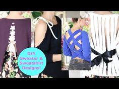 DIY Sweater Design Cutting Ideas! DIY Sweater / Sweatshirt Reconstruction - YouTube