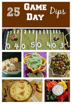 Super Bowl Dip Recipes - 25 Game Day Dips #Superbowl #GameDay #Recipe