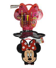 Look at this #zulilyfind! Disney Minnie Mouse Stationery Set #zulilyfinds