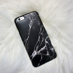 Black marble iPhone case from Lavish Ace Techs