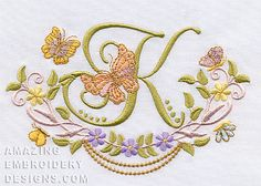 Free Embroidery Design: Letter K