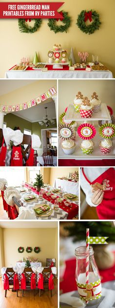 What a cute idea for a party during the Christmas season. And FREE Gingerbread Party Playdate Printables too!