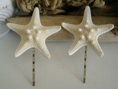 Pair of Knobby Starfish Bobby Pins Set of by lorisartstudio, $9.50