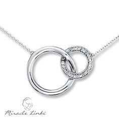 Miracle Links Necklace 1 10 Ct Tw Diamonds 10k White Gold Mommy Jewelryjewelry