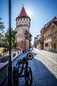 The Romanian town of Sibiu, in Transylvania. Sibiu is one of the most important cultural centres of Romania and was designated the European Capital of Culture for the year 2007.
