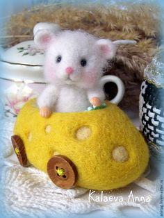 Купить Юный автомобилист...)))(мышонок) - белый, мышонок, мышка, мышь игрушка, маленький мышонок