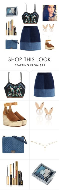 """""""Outfit For Today !"""" by kksnanny ❤ liked on Polyvore featuring Chicwish, Chloé, Aamaya by priyanka, Yves Saint Laurent and Bourjois"""