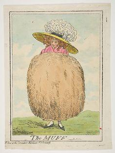 Muff satirical sketch. Henry Kingsbury, 1787