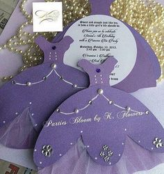 Sofia The First-Sofia the First inspired invitations (Set of CUSTOM LISIN FOR HEIDI- Sofia the First inspired invitations. Unlike many, this is a handmade card accented with ribbon, rhinestones, and pearls. Princess Sofia Party, Princess Birthday, Princess Sofia Invitations, Invitation Set, Party Invitations, Sofia The First Birthday Party, Dress Card, Toy Story Party, Wedding Cards