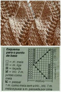 Double leaf lace knitting stitch more patterns like this – Artofit Lace Knitting Stitches, Cable Knitting Patterns, Knitting Charts, Knit Patterns, Baby Knitting, Stitch Patterns, Knitting Socks, Bead Sewing, Knit Crochet