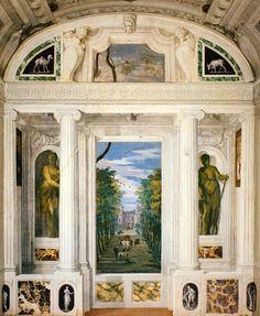 vcrfl:   Paolo Veronese, trompe l'œil fresco in the Villa Barbaro, 1560/61.