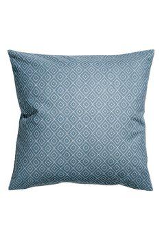 Bavlněný povlak na polštářek - Tmavomodrá - | H&M CZ 1