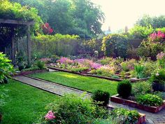 Pretty garden and fence