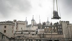 The Iron Throne from Game of Thrones being delivered to the Tower of London for the season 5 premiere