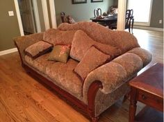 I have this set  (Ashley furniture Biltmore Bordeau sofa and matching loveseat).  I CANNOT figure out a color scheme (curtains, wall color, etc.) that would match...any suggestions??
