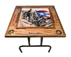 Excited to share the latest addition to my #etsy shop: Simbolos Boricuas Domino Table