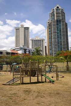 Buildings and playground in Panama – Best Places In The World To Retire – International Living-It was great to move to Panama! It's got it all: mountains, beautiful forests, and jungle. You've got a fabulous city to live in (Panama City), great shopping, fantastic restaurants, and good nightlife.