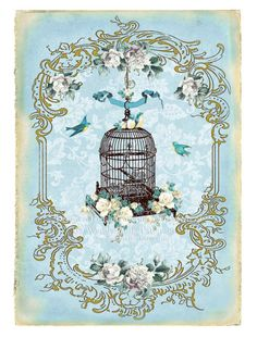 Wendy Paula Patterson - hanging birdcage in frame